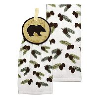 Celebrate Local Life Together Bear Button-Top Kitchen Towel