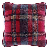 Cuddl Duds Navy & Red Plaid Throw Pillow