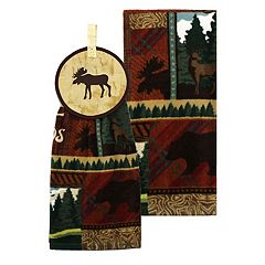 Celebrate Local Life Together Moose Button-Top Kitchen Towel