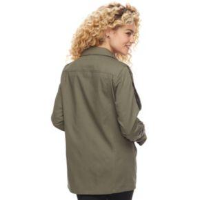 madden NYC Juniors' Sequin Trim Utility Jacket