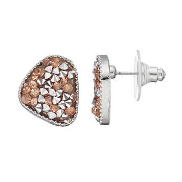 Faceted Stone Nickel Free Drop Earrings
