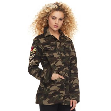 madden NYC Juniors' Patch Camo Utility Jacket