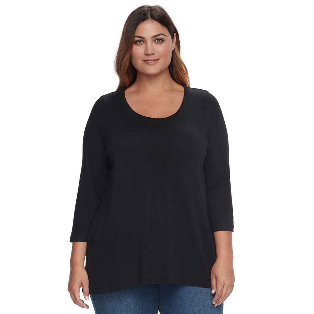 Plus Size SONOMA Goods for Life™ High-Low Scoopneck Tee