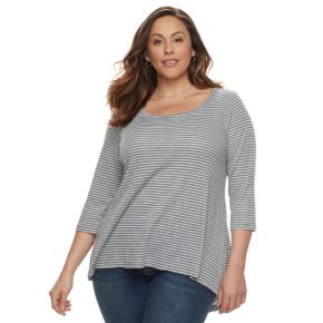 Plus Size SONOMA Goods for Life? High-Low Scoopneck Tee