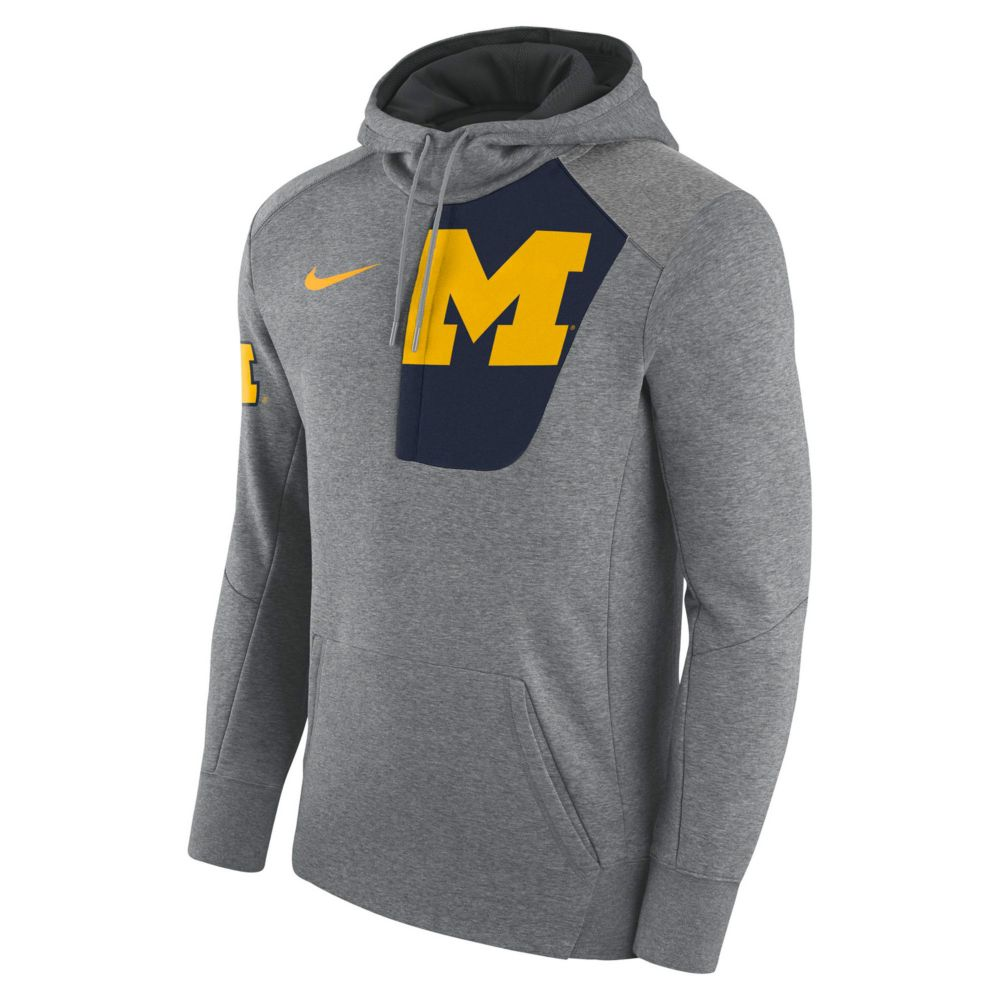 Nike Michigan Wolverines Fleece Pullover Hoodie