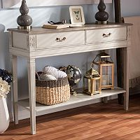Baxton Studio Arte French Provincial Console Table