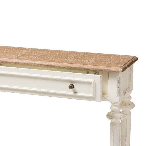 Baxton Studio Marquetterie French Provincial Console Table