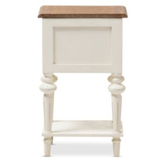 Baxton Studio Marquetterie French Provincial Nightstand