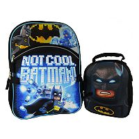 DC Comics Batman Backpack & Lunch Bag Set