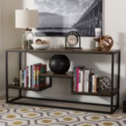 Baxton Studio Doreen Rustic Industrial Console Table