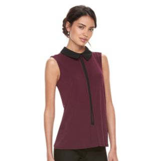 Women's ELLE™ Sleeveless Tie Neck Top