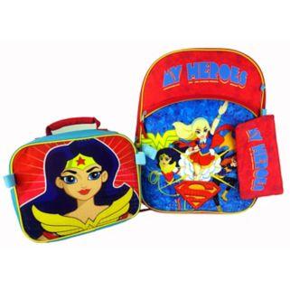 """Super Hero Girls Wonder Woman """"My Heroes"""" Backpack & Lunch Bag Set"""