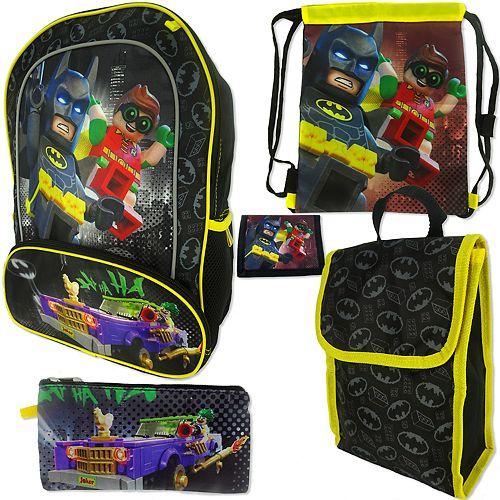 99850e87eb83 Lego Batman 5-pc. Backpack Set