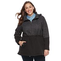 Plus Size d.e.t.a.i.l.s Fleece Anorak Jacket