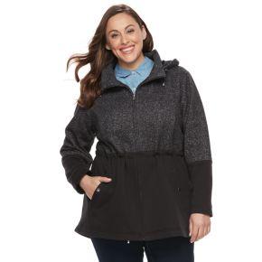 Plus Size d.e.t.a.i.l.s Fleece Anorak Jacket