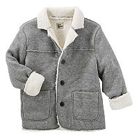 Toddler Boy OshKosh B'gosh® Sherpa Lined Knit Fleece Jacket