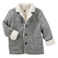 Toddler Boy OshKosh B'gosh® Sherpa Lined Knit Fleece Jacket