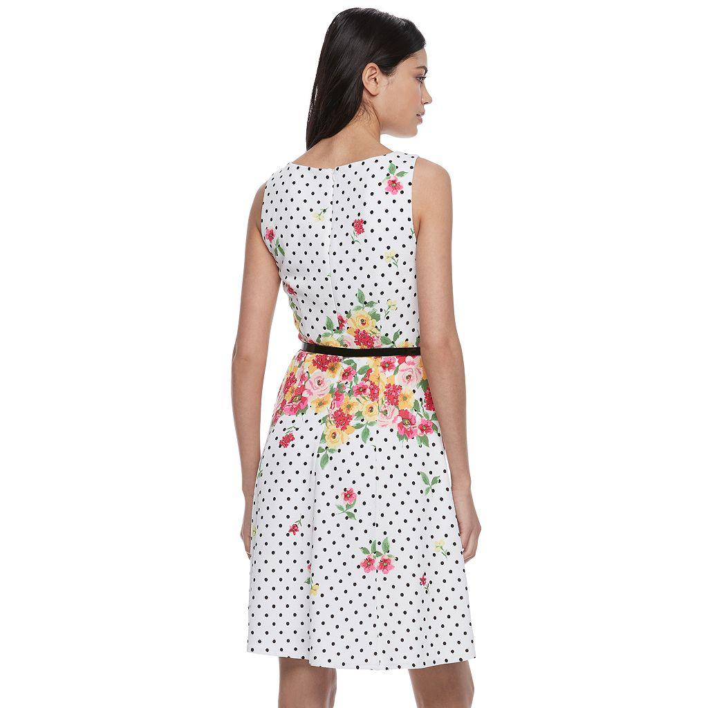 Women's ELLE™ Print Sleeveless Fit & Flare Dress