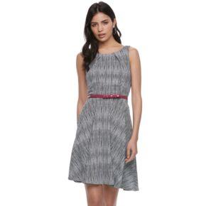 Women's ELLE? Print Sleeveless Fit & Flare Dress