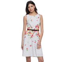 Women's ELLE™ Print Sleeveless Fit & Flare Dress