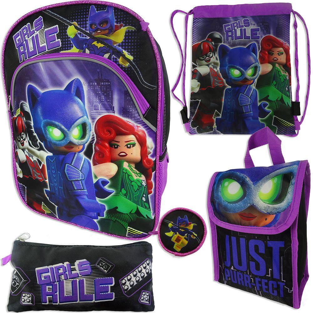 0228b6705b Girls 4-16 Lego Batman 5-pc. Backpack, Lunch Box & Accessories Set