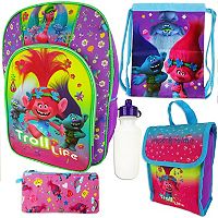 DreamWorks Trolls Poppy Kids 5-pc. Backpack, Lunch Box & Accessory Set