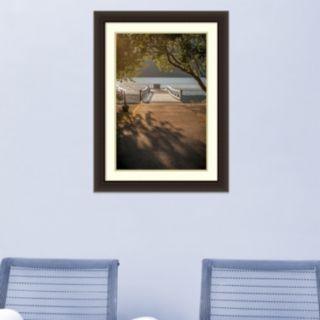 Amanti Art Crescent Lake Pier Framed Wall Art