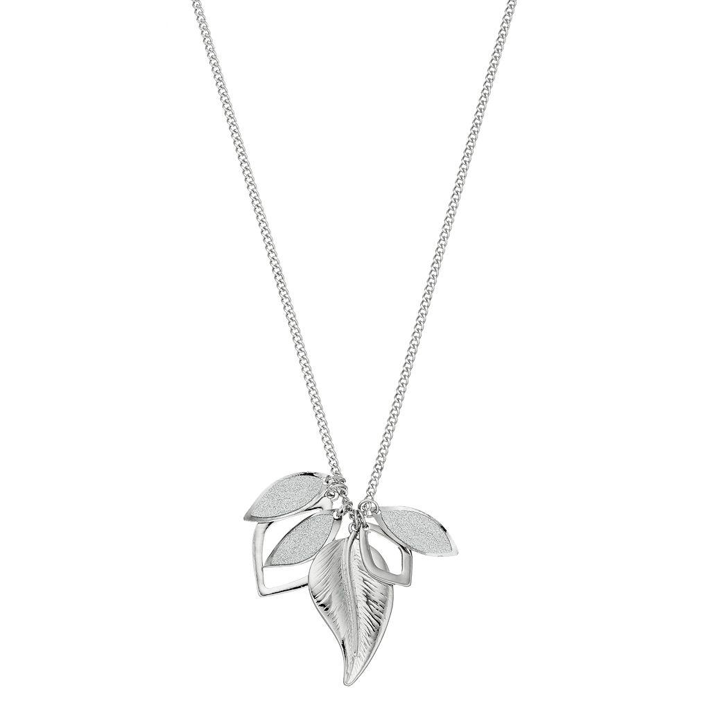 Long Leaf Charm Necklace