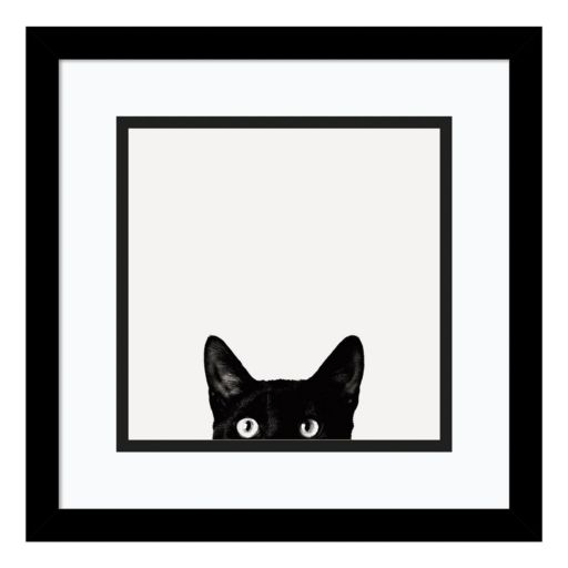 Amanti Art Curiosity Cat Framed Wall Art