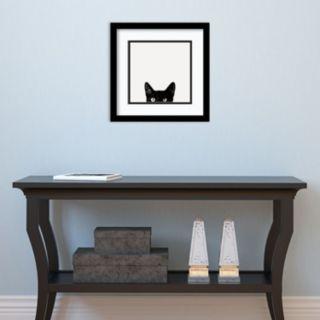 Amanti Art Curiosity Cat Framed Wall Art