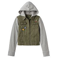 Girls 7-16 & Plus Size Mudd® Knit Utility Jacket