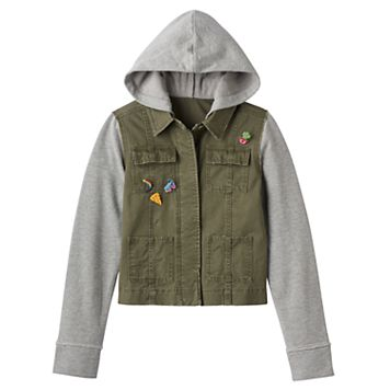 Girls 7-16 & Plus Size Mudd® Knit Utility Jacket