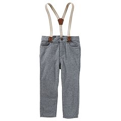 Toddler Boy OshKosh B'gosh® Suspender Knit Pants