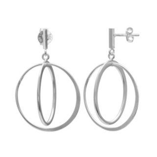 PRIMROSE Sterling Silver Orbital Drop Earrings