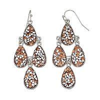 Faceted Stone Teardrop Nickel Free Kite Earrings