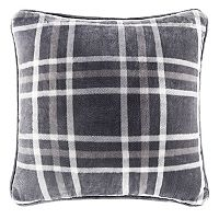 Cuddl Duds Speckled Gray Plaid Throw Pillow
