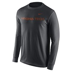 Men's Nike Virginia Tech Hokies Wordmark Long-Sleeve Tee