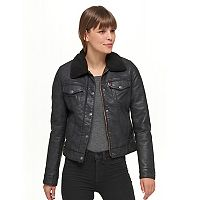 Women's Levi's Snap-Front Trucker with Sherpa Collar