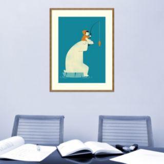 Amanti Art Dinner For Two Polar Bear Framed Wall Art