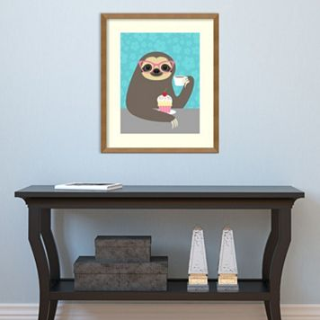 Amanti Art Diva Sloth Framed Wall Art