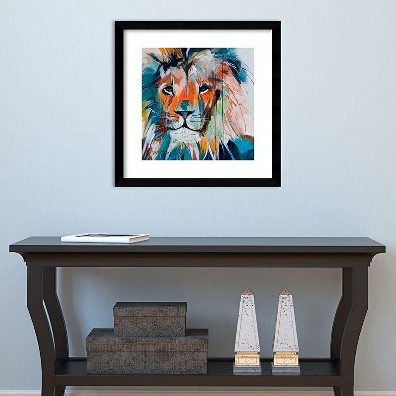 """Amanti Art Lion Framed Wall Art, 17""""X17"""""""
