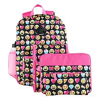 Kids 6 pc Emoji Backpack & Accessories Set