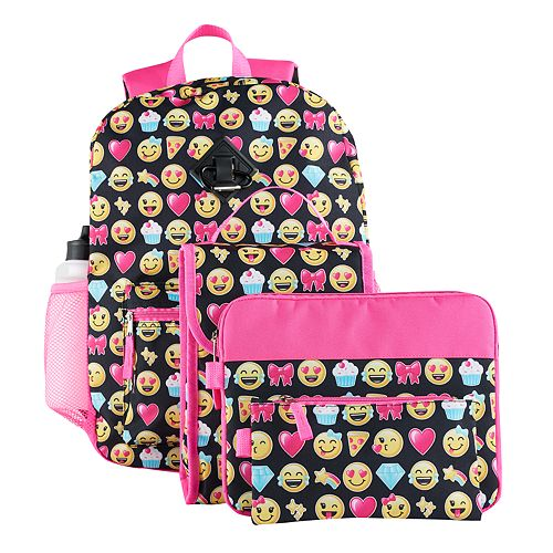 6-pc. Emoji Backpack & Accessories Set