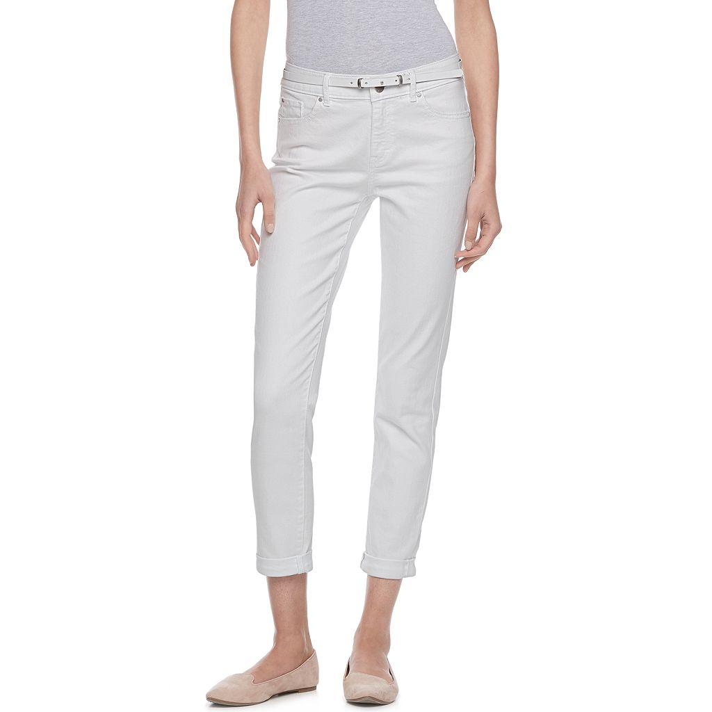 Women's ELLE™ Cuffed Skinny Capri Jeans