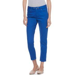 Women's ELLE? Cuffed Skinny Capri Jeans