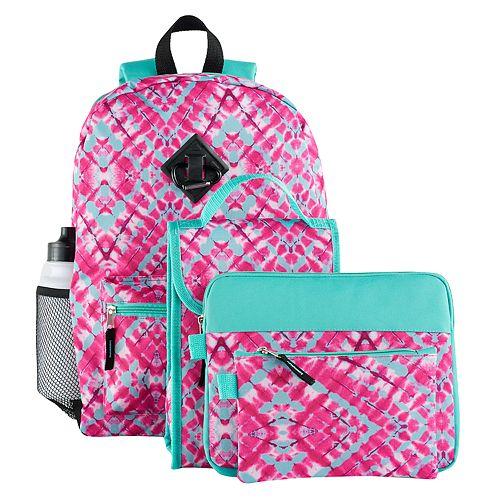 Kids 6-pc. Geometric Backpack & Accessories Set