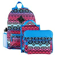 Kids 6 pc Tribal Backpack & Accessories Set
