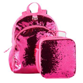 Kids Flip Sequins Backpack & Lunch Bag Set