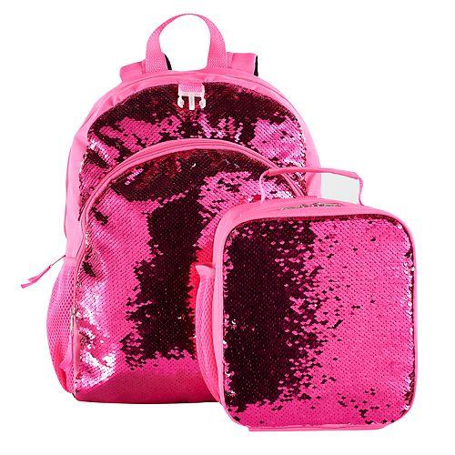 Kids Flip Sequins Backpack   Lunch Bag Set e7c59ff09fc09