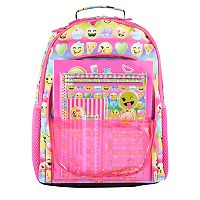 Kids Emoji Backpack & Stationary Set